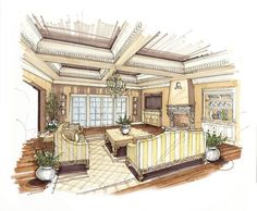Home Decoration Online Shopping Key: 2015417031 Interior Architecture Drawing, Architecture Jobs, Interior Design Renderings, Interior Design Colleges, Drawing Interior, Landscape Architecture Design, Interior Rendering, Interior Sketch, Architecture Visualization