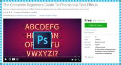 """[100% Free Udemy Course] The Complete Beginners Guide To Photoshop Text Effects Discover how to create amazing text effects that can be applied to banners flyers posters emails and so much more! This Udemy Course Worth 20$ So hurry up! And get it FOR FREE. 1- Details: Instructors : Kory Pearman Zaoui Abdelillah. Lectures : 21. Video :2 Hours. Skill level :Beginner level. Languages :English. Ratings :0 Ratings. Students enrolled :455. Original Price : 20$. 2- Course Description: """"Are you…"""