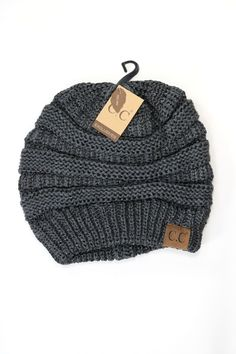 Knit CC Beanie with shimmering accents - 100% acrylic 43c02bc046e1