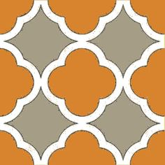 Designer Fabric by the Yard - Quatrefoil Trellis Print