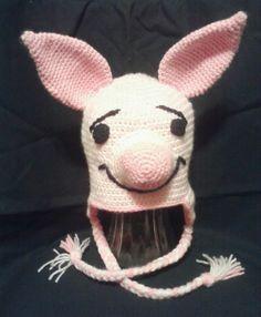Crocheted Novelty Hats  Piglet  Hello Kitty  by MamaTCrafts, $25.00