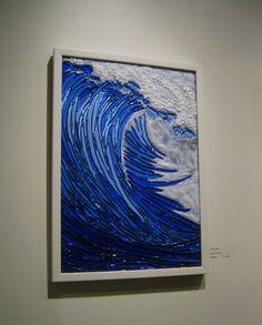 Linda Billet, Ocean Wave, fused glass