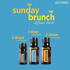 This diffuser blend brings to mind the pepper and citrus flavors of a leisurely breakfast on some flower-surrounded veranda. In other words, this combination is Sunday brunch in a blend and will keep you going all day long! #doterradiffuserrecipes #sundayvibes #doterra #essentialoils