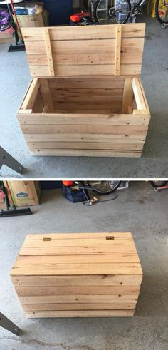 wooden pallet storage box ideas #woodProjects #furniture #Pallet #DIYProjects