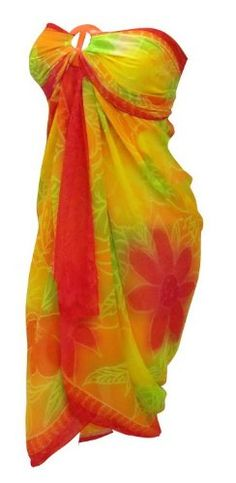 $16 La Leela Multicolor Beach Wrap Swim Hawaiian Sarong Cover upFrom La Leela $16