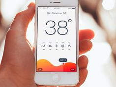Weather, app, UI, UX, iOS, mobile, interface, design, clean, light