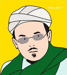 Gambar Habib Bahar Dan Habib Rizieq Kartun