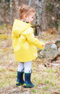 Such a sweet classic yellow raincoat made from the Amsterdam Coat pattern. Thanks to Kelly Ballou of www.facebook.com/sewalittleseam for this photo. PDF sewing pattern designed by Mummykins and Me. Available for instant download at www.rebecca-page.com. Fully lined all-weather coat. Make it from gorgeous heavy wools for a snug Winter coat. Use light-weight cottons or linens for a cute Spring/Fall coat… or even go for waterproof fabrics and make an any-season Raincoat!