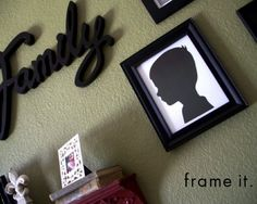 Emily Louise teaches how to make your own decorative silhouettes for pennies. It is the perfect homemade gift for Mother's Day and a great art project!