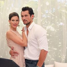 There are not enough words to describe how perfect these two look together! #davidgandy #biancabalti #dglightblue