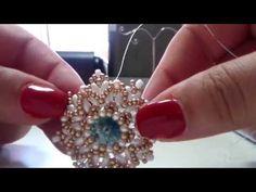 DIY - tutorial Orecchini Rosone e anello con rivoli 14 mm - YouTube