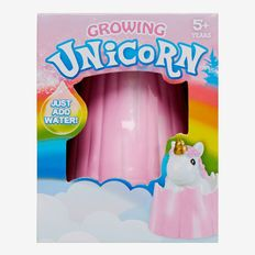 Just add water to grow your very own magical unicorn. Not recommended for children under 5.