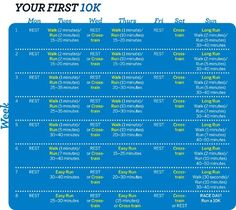 10K Training Plan.... determined to run the races in their order: have 5k under the belt, now i need a 10k, 1/2 marathon, then full 26.2 miles!