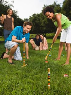 Set out a couple of yard games to play, such as croquet, badminton or bocce.