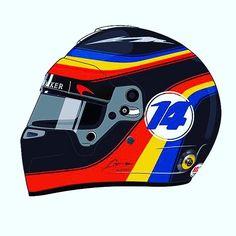 Fernando Alonso Revive la Indy 500 Diseño del Casco Para F1 Grand Prix de estados UNIDOS