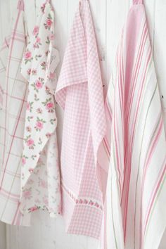 Pink & White Linens ....