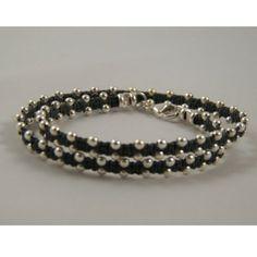 Sterling Silver Wrap Bracelet - Choose Your Color