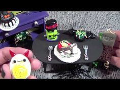 7 Days of Devilish Dinner: Polymer Clay Headstone Chair & Deviled Egg