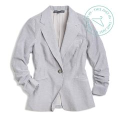 This Just In! Channel a summer clambake in this seersucker blazer that adds instant prep to your favorite sundress. (Joann Seersucker Blazer)
