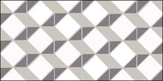 Escher design in anthracite, pearl and white