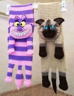 Two Crochet Cat Scarfs Pattern Digital PDF - Crochet Cat Pattern - Animal Scarves - Instant Download - Pet scarf