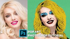 Photoshop CC tutorial showing how to make this pop art Warhol effect in Photoshop  #pop-art #photoshop #warhol #tutorial #free Photoshop Youtube, Free Photoshop, Photoshop Brushes, Photoshop Tutorial, Photoshop Actions, Pop Art Effect, Creepy Images, Create Photo, Andy Warhol