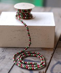 Love this Red & Green Tiny Bead Garland on #zulily! #zulilyfinds