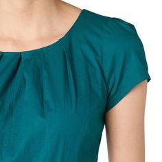 Kleid mit schmalem Gürtel in Leder-Optik