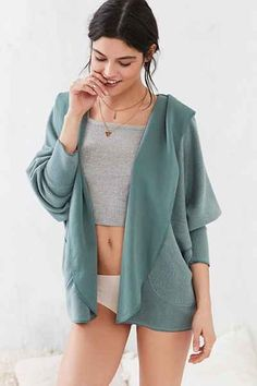 Silence + Noise Seoul Cozy Hooded Cardigan - Urban Outfitters