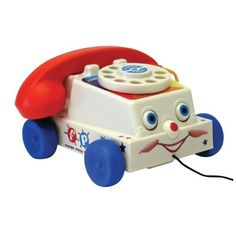 Classic Fisher Price Chatter Telephone: Only from Toyday Toyshop. A Fisher Price telephone in vintage looking packaging. Fisher Price Toys, 90s Toys, Retro Toys, Vintage Toys 1960s, Children's Toys, Vintage Stuff, Vintage Cars, Vintage Fisher Price, 90s Kids