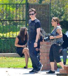 JULY 2011 On the set of Struck by Lightning Chris Colfer, Lightning Strikes, Darren Criss, Celebs, Celebrities, Glee, Peaches, Celebrity Crush, Fanfiction