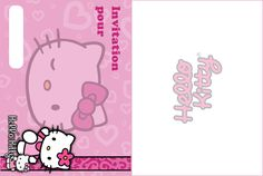 invitation anniversaire hello kitty rose - Hello Kitty Anniversaire