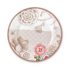Pip Studio Spring to Life white 21cm plate
