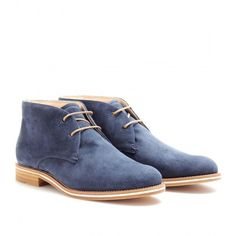 Tod's No_code Suede Desert Boots ($628) ❤ liked on Polyvore