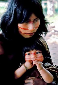 Fascinating Humanity: Peru: Campa Indian Mother And Daughter