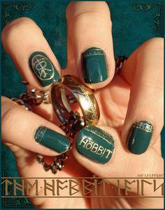 The Hobbit Nails by Ninails on DeviantArt