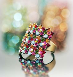 Colorful ring (designed by Michal Negrin from Tel Aviv). So great!