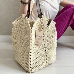 Crochet Tote, Crochet Purses, Granny Square Bag, Back To School Bags, Boho Bags, Dark Beige, Jute Bags, Market Bag, Tote Purse