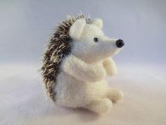 Needle Felted Animal - Felted Hedgehog Wool Collectible Made to Order