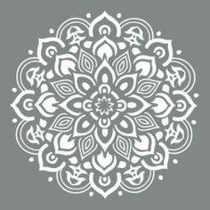 Mandala - Vintage Style - Schablon