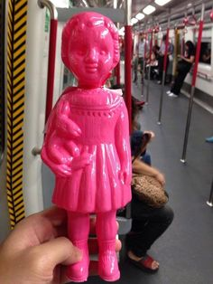 Mushroom shop, Clonette doll in Neon Pink