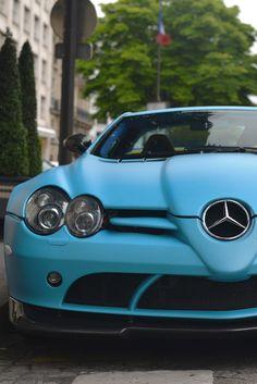 ♂ Blue car Mercedes-Benz SLR 722S