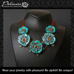 Jewelry - Necklaces - Swarovski necklaces - Flowers necklace - Handmade jewelry - Gift for woman - Bridal necklace by PolinessJewelry on Etsy https://www.etsy.com/au/listing/249645377/jewelry-necklaces-swarovski-necklaces