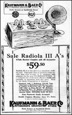 Wonderful Vintage Newspaper Advertising For The Radiola III A