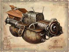 - Steampunk Vehicle Artwork -#Steampunk #Steampunkart #Vehicle http://www.pinterest.com/TheHitman14/art-steampunk-%2B/