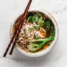 This quick & easy vegan ramen is a healthy homemade soup recipe that is filled with ramen noodles and comes together in less than 30 minutes! Vegetarian Pho, Vegetarian Recipes, Vegan Ramen, Healthy Recipes, Pho Recipe Easy, Easy Soup Recipes, Pho Soup Recipe Vegetarian, Quick Easy Vegan, Quick And Easy Soup