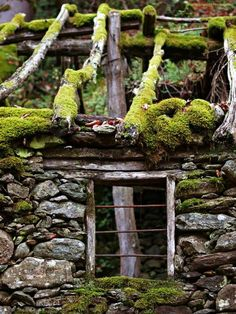 Old Buildings, Abandoned Buildings, Abandoned Places, Belle Image Nature, Moss Garden, Stone Houses, Back To Nature, Architecture, Belle Photo