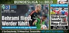 astro snake Franco Di Santo made it 1:0 for Werder Bremen! (Yesterday astro snake Aubameyang for BVB lol) http://www.bild.de/bundesliga/1-liga/saison-2014-2015/sv-werder-bremen-gegen-hamburger-sv-am-29-Spieltag-36650234.bild.html Btw. In case HSV 2015 not relegated into 2nd league, just like 2014, then be thankful to Dr. Angela Merkel​, born in Hamburg! In case VfB lucky 2015, thx God for HIS mercy!