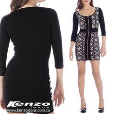 El blanco y el negro son colores elegantes, además de su sofisticación, son fáciles de combinar y puedes lograr un #look trendy juntándolos. #KenzoJeans más en www.kenzojeans.com.co