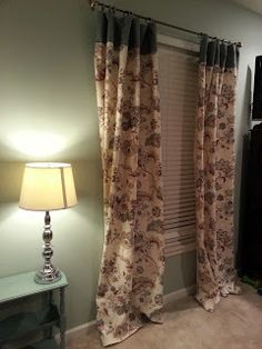 How to make curtains without a sewing machine.